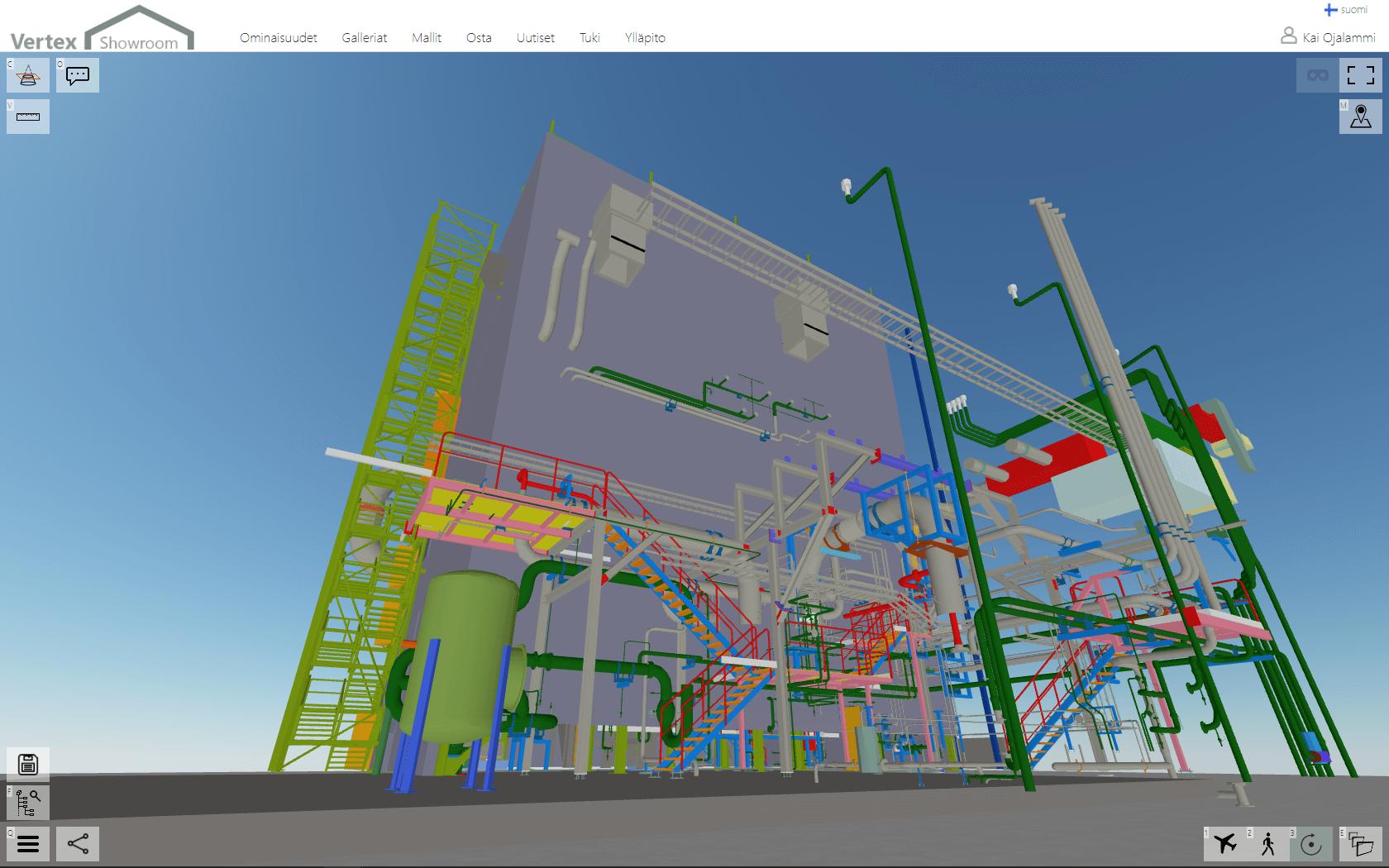 Showroom-palveluun julkaistu 3D-laitosmalli