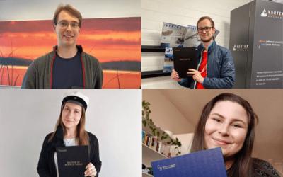 Valmistumisen juhlaa – kolme diplomityötä ja yksi pro gradu -työ
